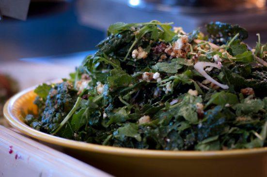 Fresh green arugula salad - YUM!